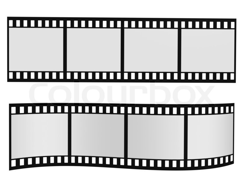 Two film strip with blank frames isolated on white | Stock Photo ...