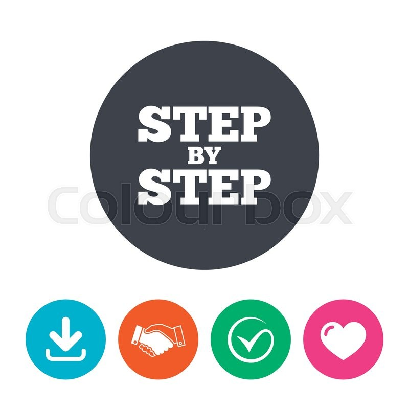 Step By Step Sign Icon Instructions Symbol Download Arrow