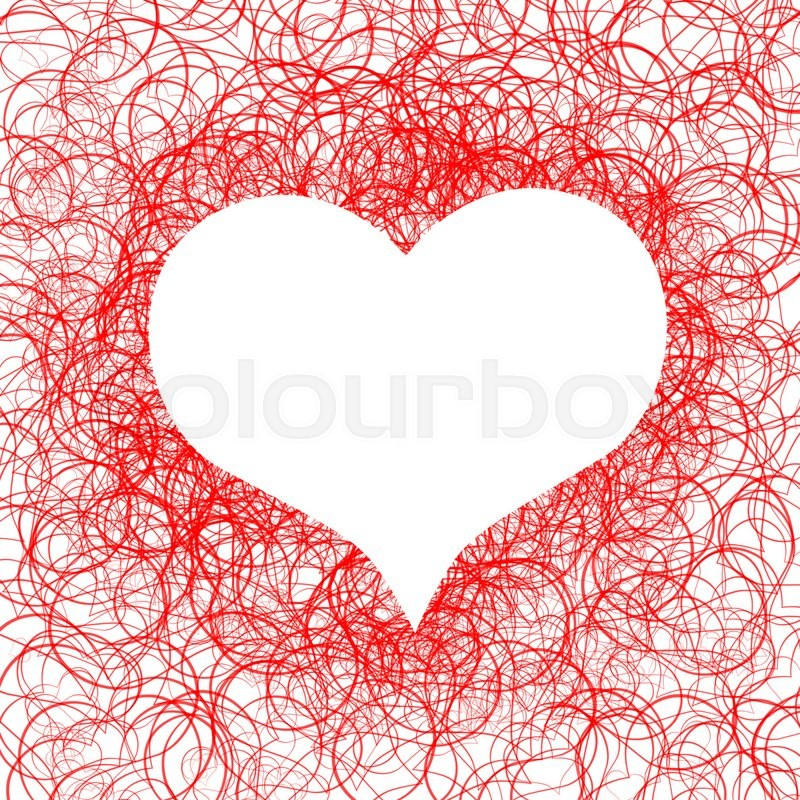 Red Heart Symbol Isolated On White Background Stock Photo Colourbox