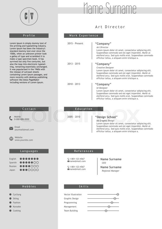 style of resume