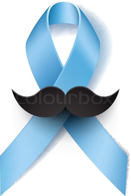 prostate cancer ribbon awareness isolated on white background lightprostate cancer ribbon awareness isolated on white background light blue ribbon with mustache vector illustration stock vector colourbox