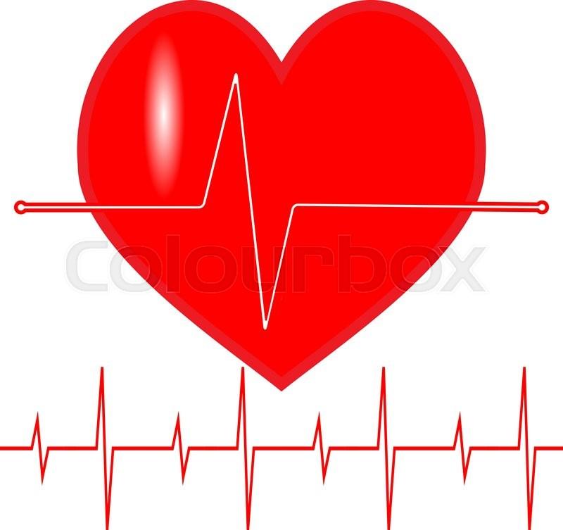 Pulse Heartbeat Icon Line Life Cardiogram Wave Symbol Medical
