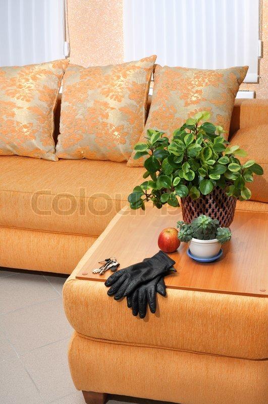 Moderne lounge zimmer echtphoto ror hintergrund stockfoto colourbox - Moderne lounges fotos ...