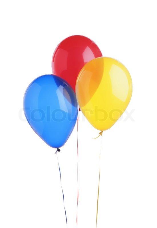 farbe luftballons isoliert auf wei em hintergrund stockfoto colourbox. Black Bedroom Furniture Sets. Home Design Ideas