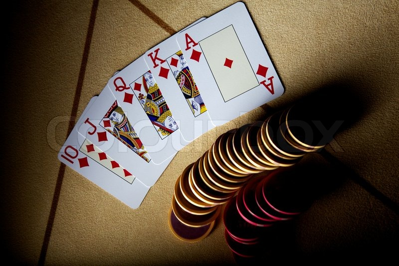 Poker royal flush straight