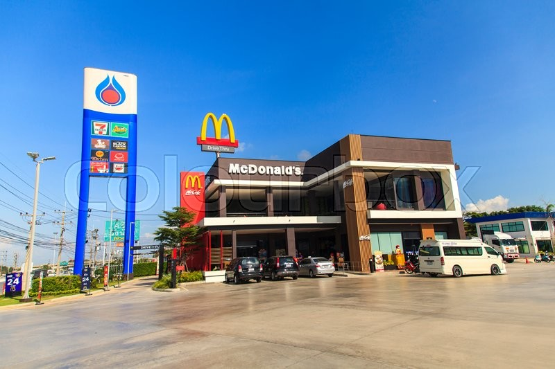 ayutthaya thailand november 19 2015 mcdonalds restaurant with blue sky on 19 november 2015 in ayutthaya it is the worlds largest chain of hamburger - Blue Restaurant 2015