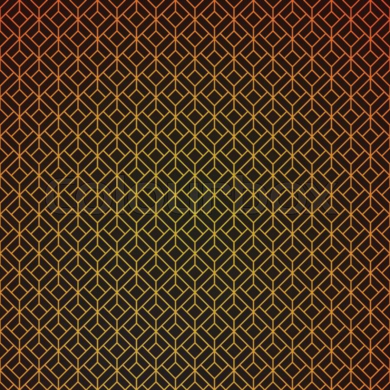 Gold And Black Geometric Retro Stock Vector Colourbox