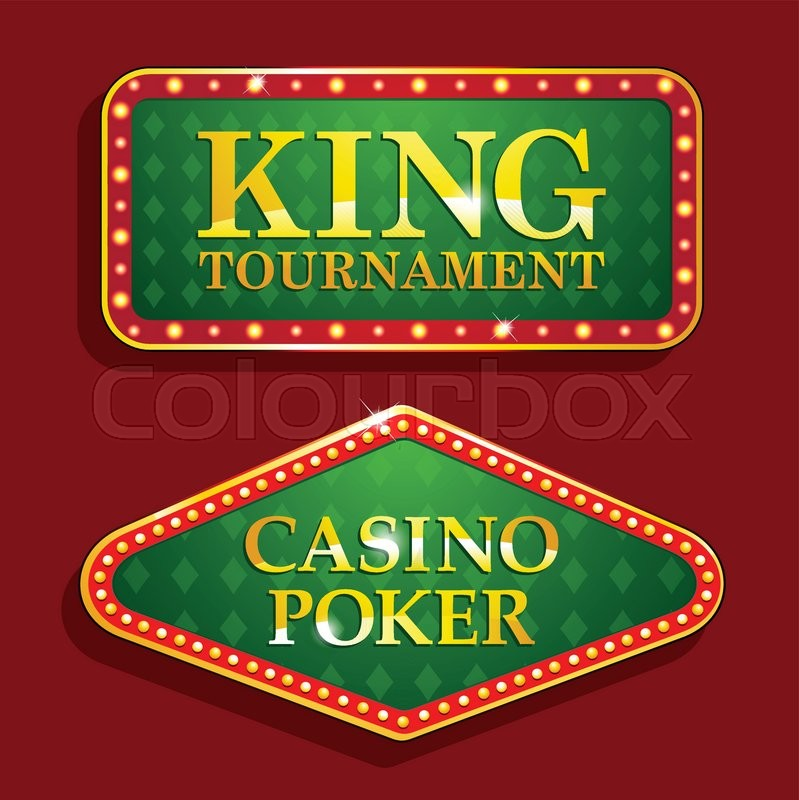Golden Poker Casino Banners Isolated Stock Vector Colourbox