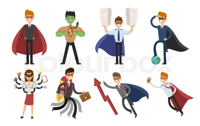 superhero business man and business woman vector set super people rh colourbox com super hero vectoriel superhero vector file
