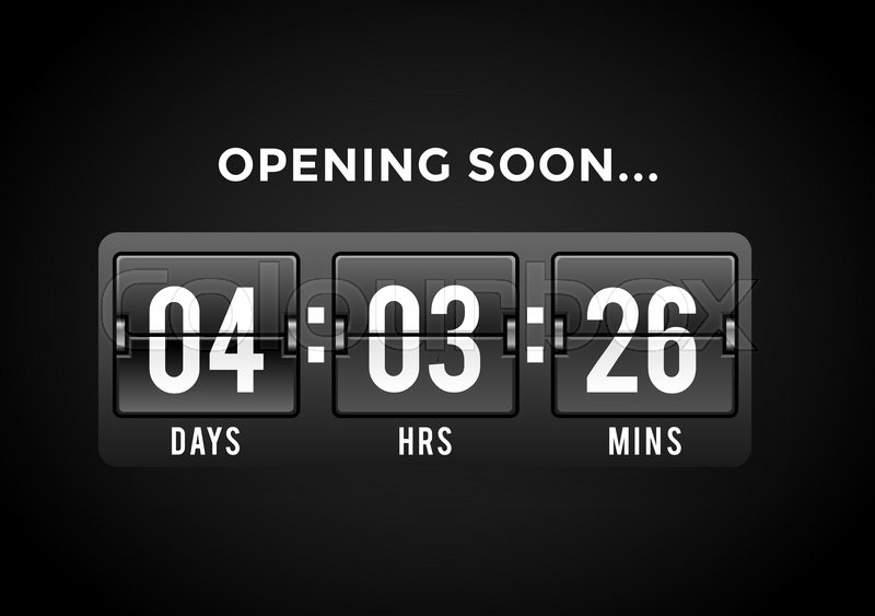countdown clock digits board panels timer website timer counter sale opening soon new year christmas timer sale vector mechanical timer