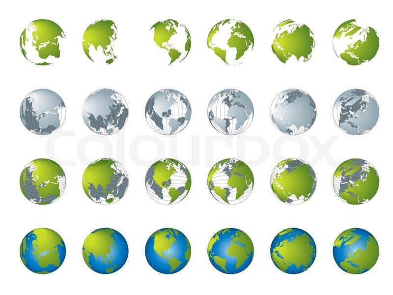 World map 3d globe series stock vector colourbox gumiabroncs Choice Image