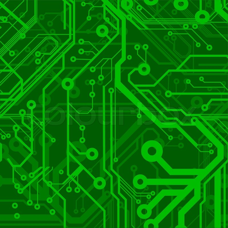 Green Seamless Printed Circuit Board Pattern | Stock ...