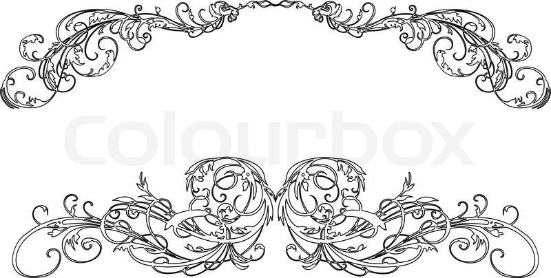 zwei barocke kalligraphie curves