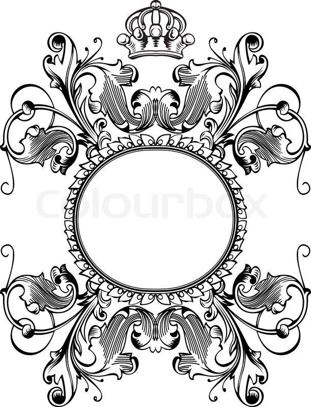 royal ornate frame stock vector colourbox