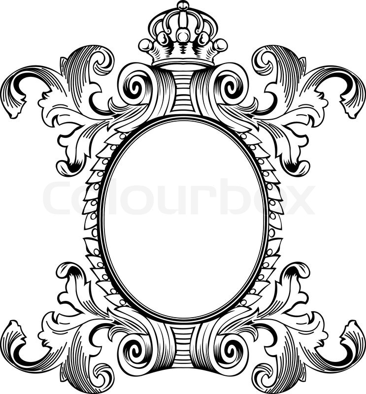 antique frame drawing. Antique Frame Engraving, Scalable And Editable Vector Illustration | Stock  Colourbox Antique Frame Drawing