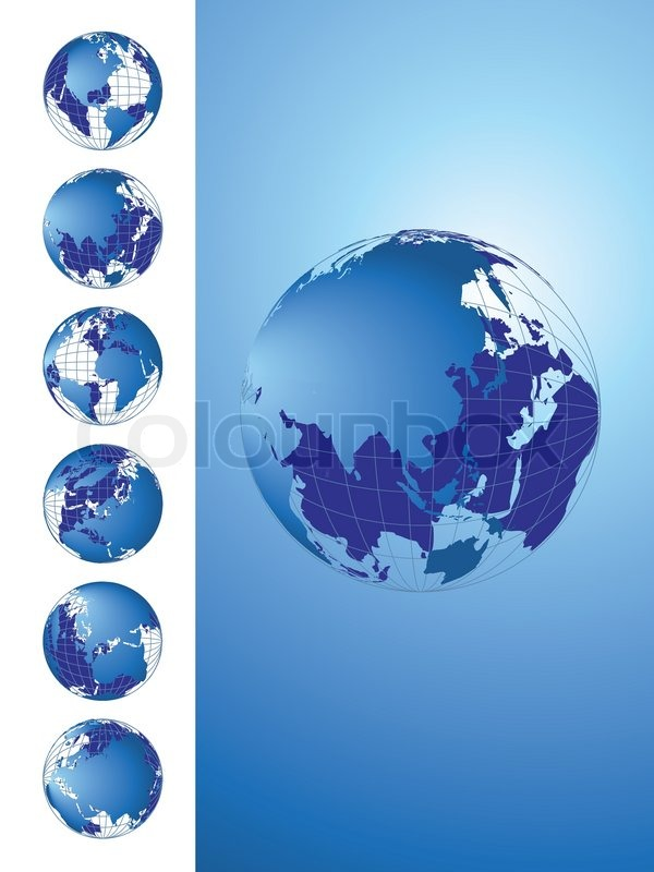 World map, 3D globe series | Stock Vector | Colourbox