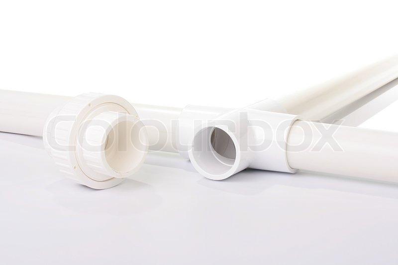 adapter und stecker f r kunststoff wasserleitungen stock foto. Black Bedroom Furniture Sets. Home Design Ideas