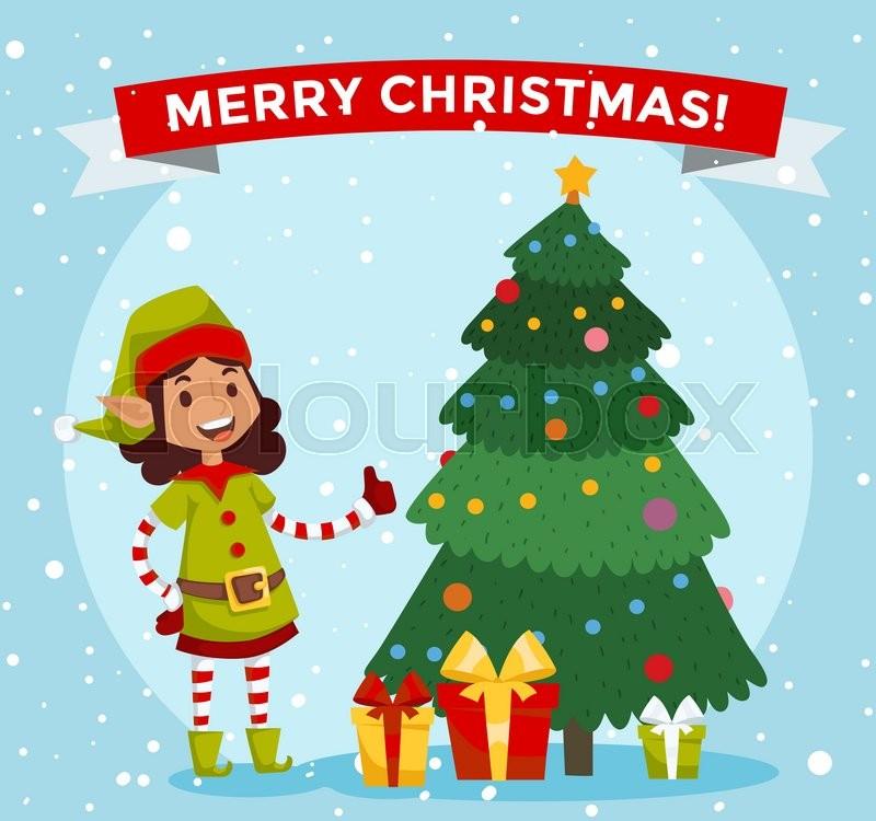 santa helpers traditional costume santa family elfs isolated on background santa claus elf christmas kids christmas card stock - Elf Christmas Card