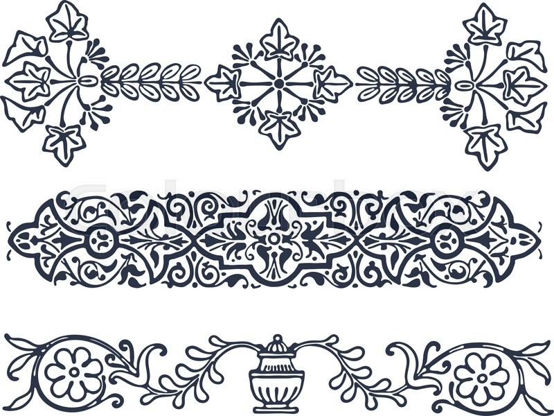 stock vector of vector vintage border frame filigree engraving with retro ornament pattern in antique