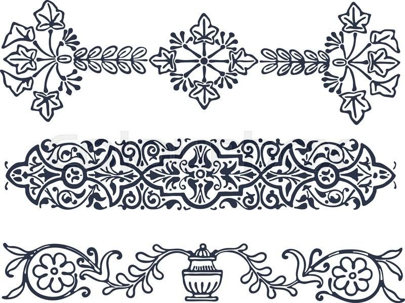 vector vintage border frame filigree engraving with retro ornament rh colourbox com filigree vector patterns filigree vector corner