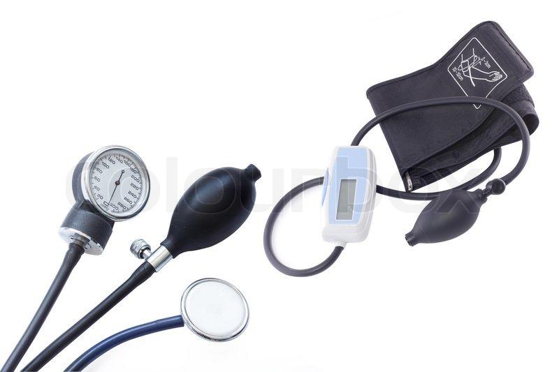 Pressure Measuring Instruments : Different blood pressure measuring instruments under the