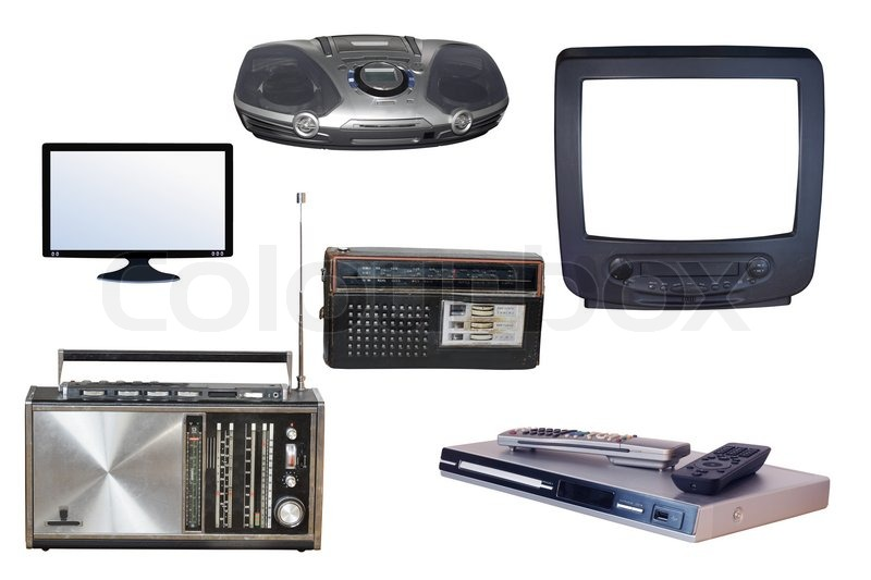 Different kinds of radio and TV devices | Stock Photo | Colourbox