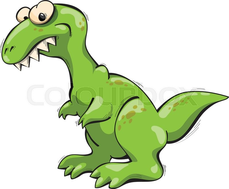 green tyrannosaurus rex vector illustration cartoon stock vector rh colourbox com t-rex vector download t-rex vector download