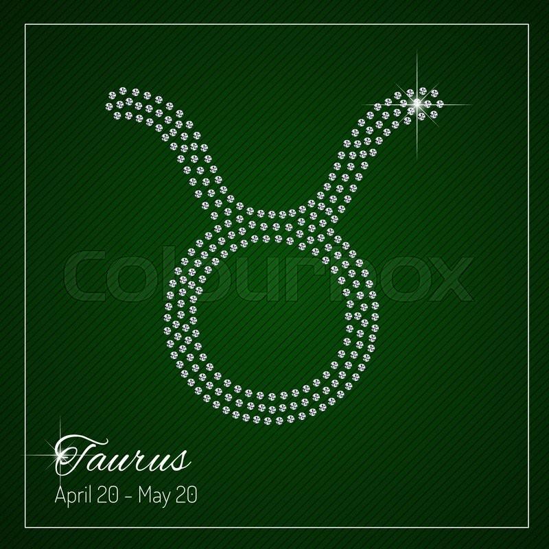 Shimmering Diamond Luxury Zodiac Sign, Taurus. Template