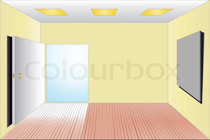 Vector illustration of empty room | Stock Vector | Colourbox