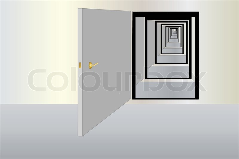 Vector illustration of infinity way fron the row of open doors | Stock Vector | Colourbox & Vector illustration of infinity way fron the row of open doors ... pezcame.com
