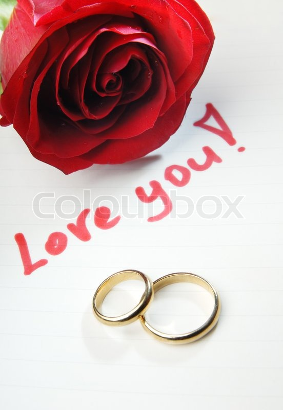 gold red stock bouquet rings roses picture of and wedding rose