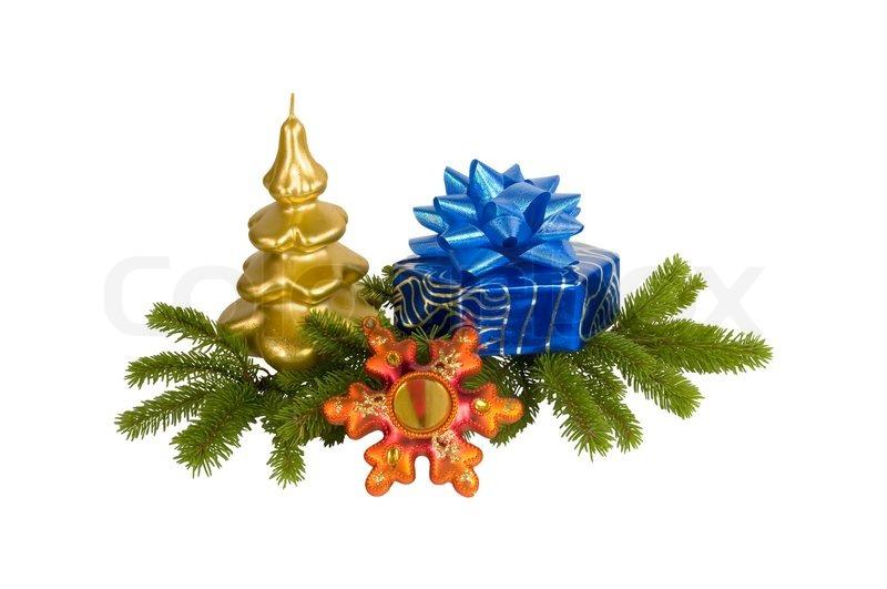 geschenkbox mit schleife und weihnachten kerze und sterne. Black Bedroom Furniture Sets. Home Design Ideas