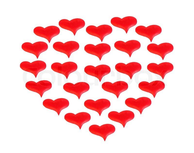 Großes Herz , bestehend aus winzigen ... | Stockfoto | Colourbox