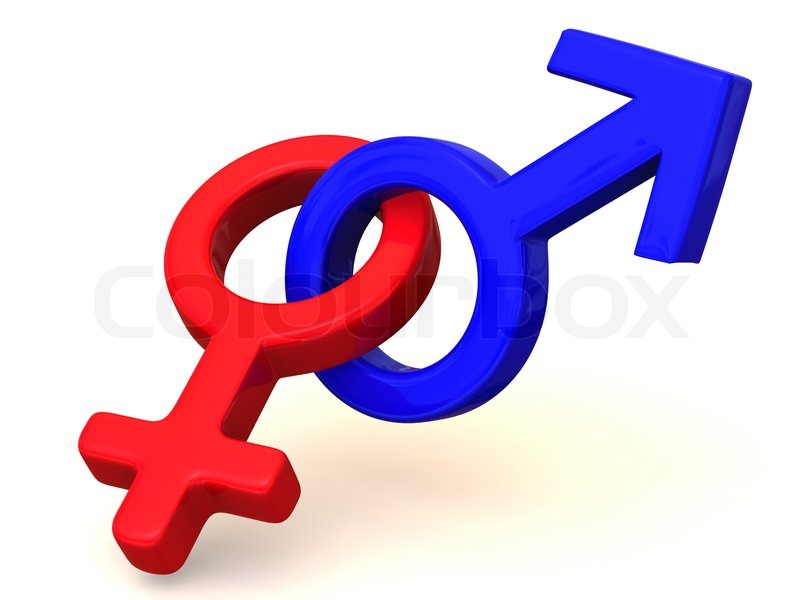 Symbol Men And Women Love 3d Stock Photo Colourbox