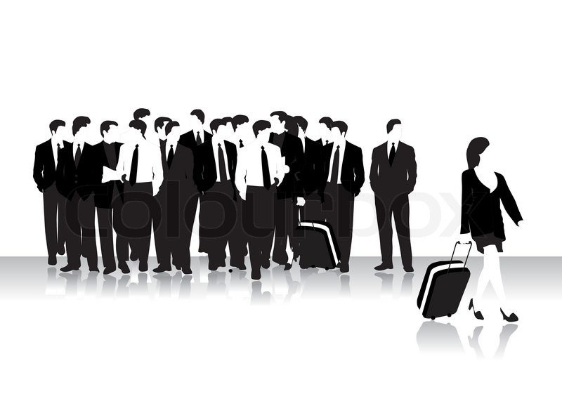 Group of business peoples, black silhouettes | Stock ...