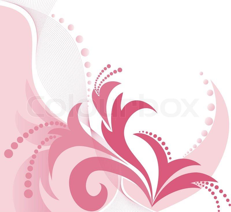 asymmetrische rosa blumenmuster auf wei em hintergrund vektorgrafik colourbox. Black Bedroom Furniture Sets. Home Design Ideas
