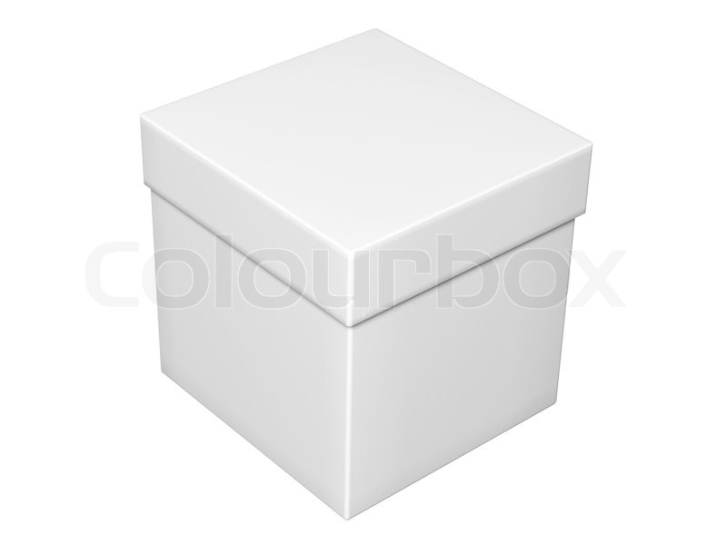 Grauer kasten mit deckel isoliert auf wei stockfoto for Box mit deckel 30x30x30