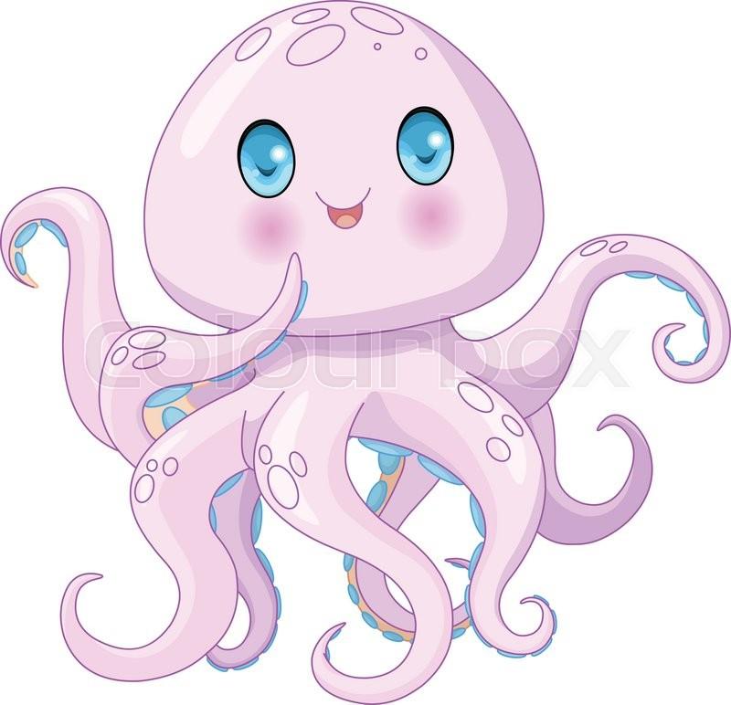 Oktopus, weichtier, logo | Vektorgrafik | Colourbox