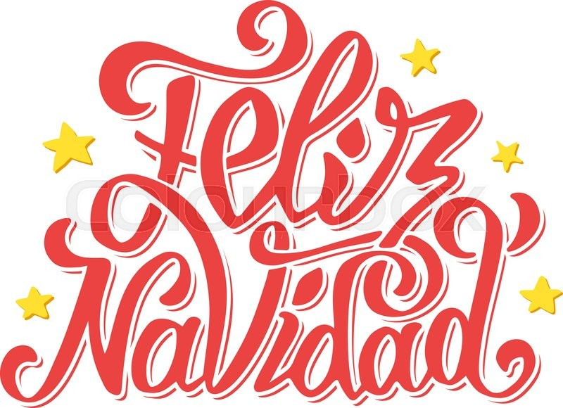 Feliz navidad lettering for invitation prints and greeting cards feliz navidad lettering for invitation prints and greeting cards merry christmas greetings in spanish language hand drawn calligraphic inscription for m4hsunfo