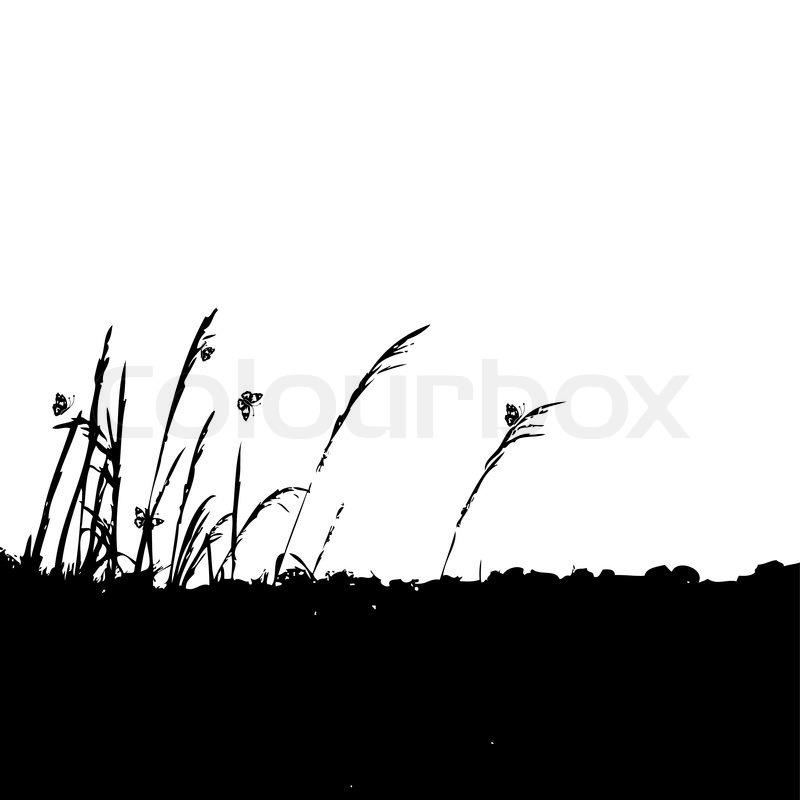 grass silhouette black stock vector colourbox grass silhouette black stock vector