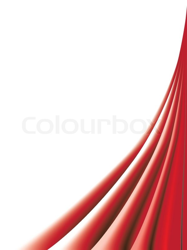 Red curtains on white background | Vector | Colourbox