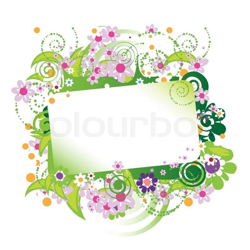 sch ne florale rahmen platz f r ihren text vektorgrafik colourbox. Black Bedroom Furniture Sets. Home Design Ideas