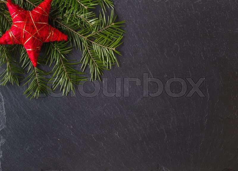 Winter greeting card template. Place to write christmas wishes, stock photo
