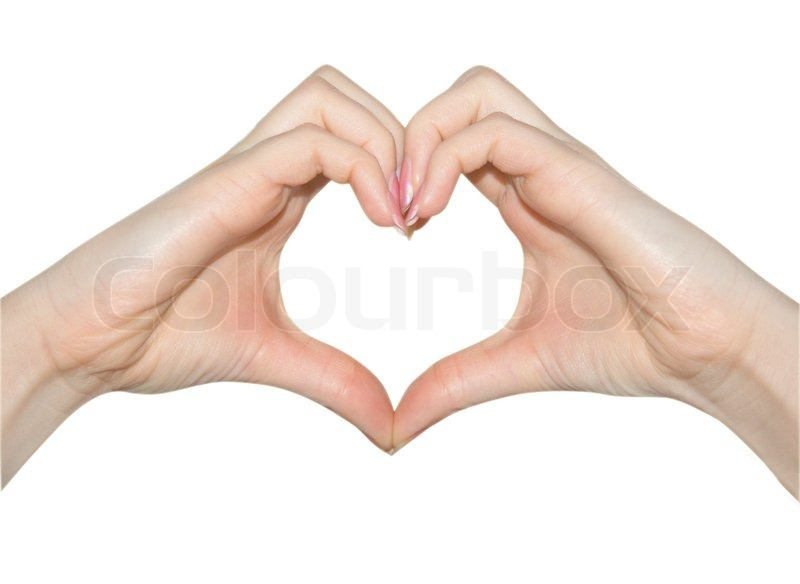 Love, hands of heart shape | Stock Photo | Colourbox
