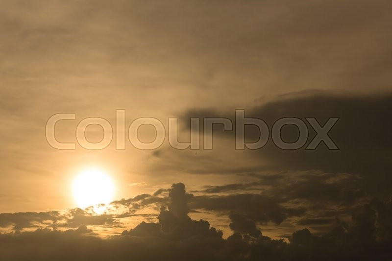 Beautiful sunset sky, dramatic moody sky, natural background, stock photo