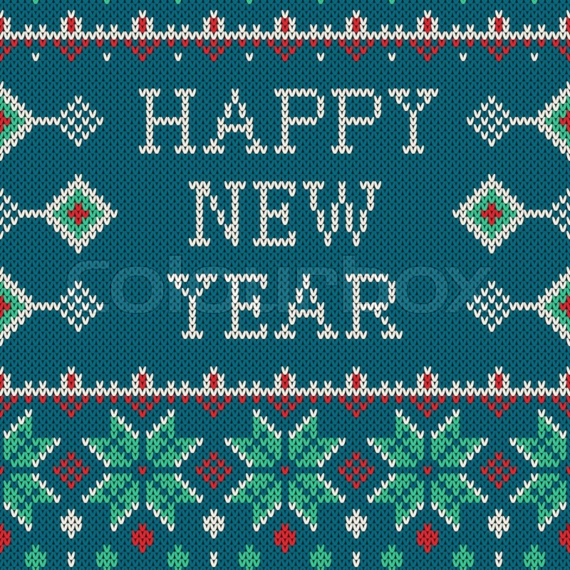 93010c37d Winter seamless pattern with Happy New ...