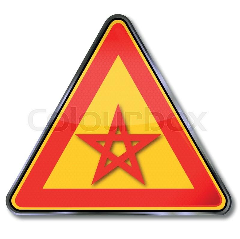 Schild mit fünfzackigen Stern und Druidenfuß | Vektorgrafik | Colourbox