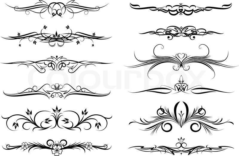 dekorativ form dekoration vektorgrafik colourbox