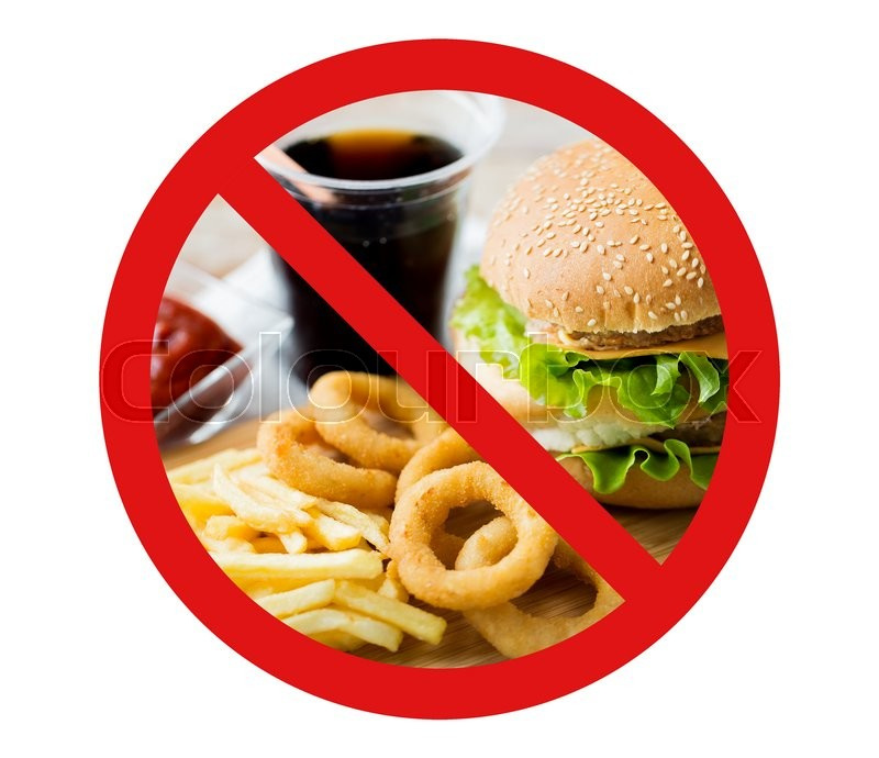 Fast Food Low Carb Diet Fattening And Unhealthy Eating Concept