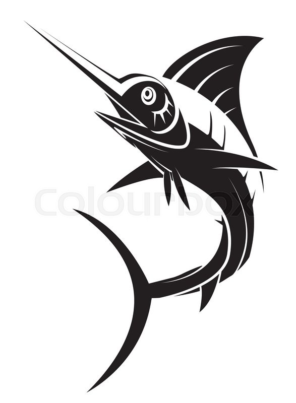 marlin fish tattoo stock vector colourbox. Black Bedroom Furniture Sets. Home Design Ideas